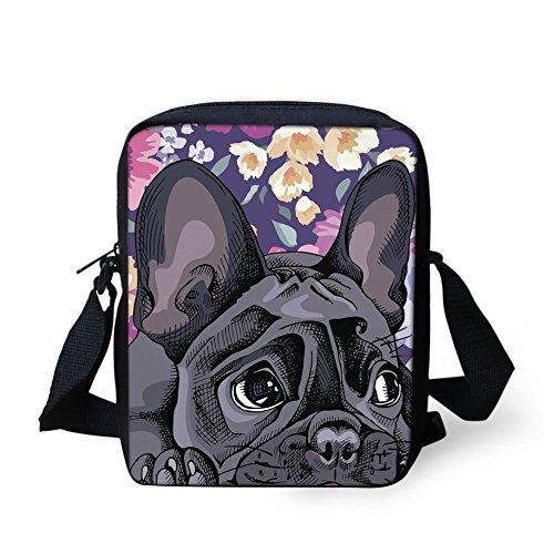 Fashion Bag HUGS Purse Travel Schnauzer Messener Small Coin Bulldog2 Bag Body Shoulder Handbags IDEA Cross Puppy Mini xYrAY48q