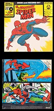 MARVEL COMICS Peter Pan Industries The Amazing Spiderman: Book And Record Set (Invasion Of The Dragon Men - The