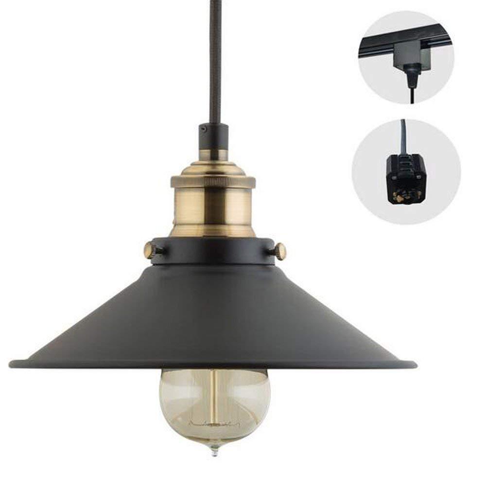 H-Type 3 Wire Track Light Pendants Length 4.9 feet Restaurant Chandelier Decorative Chandelier Instant Pendant Light Bulb not Include Industrial Factory Pendant Lamp (gdtb0181)