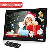MRQ 14.1 Inch Digital Photo Frame, 1280x800 HD Picture Video(1080P) Frame with Auto-Rotate, Motion Sensor, E-Book, Calendar, Alarm, Supports Multiple File Formats and External USB and SD Card-Black