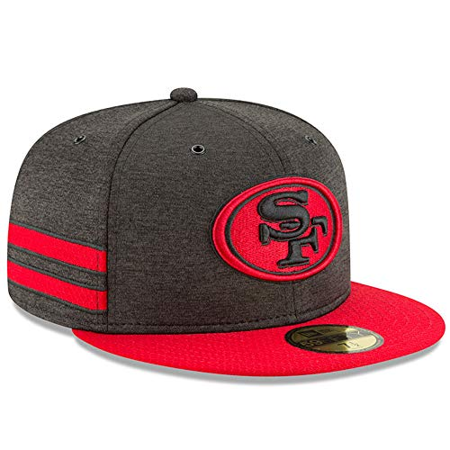 New Era San Francisco 49ers 2018 NFL Sideline Home Alternate Official 59FIFTY Fitted Hat – Black/Scarlet
