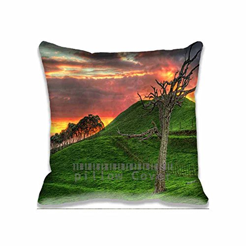 cotton-polyester-home-decorative-accent-throw-pillow-cover-hill-sunset-cushion-case-pillow-sham-for-