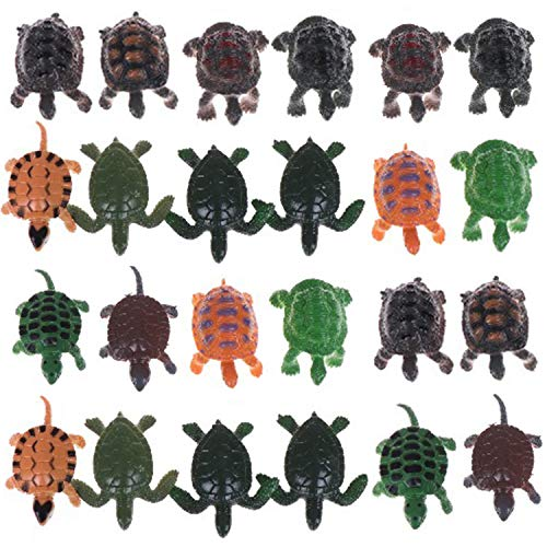 (AOPOO 24 Pieces Turtle Figurines Realistic Sea Turtle Decorations Lifelike Tortoises Ocean Animal Small Turtle Plastic for Party Favor Decoration)