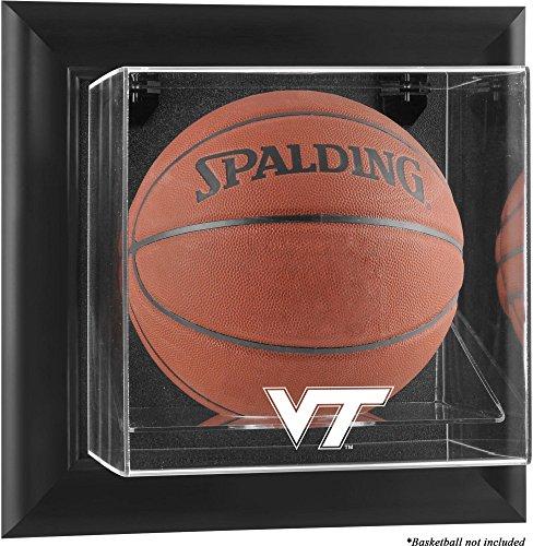 (Sports Memorabilia Virginia Tech Hokies Black Framed Logo Wall-Mountable Basketball Display Case - College Basketball Logo Display Cases)
