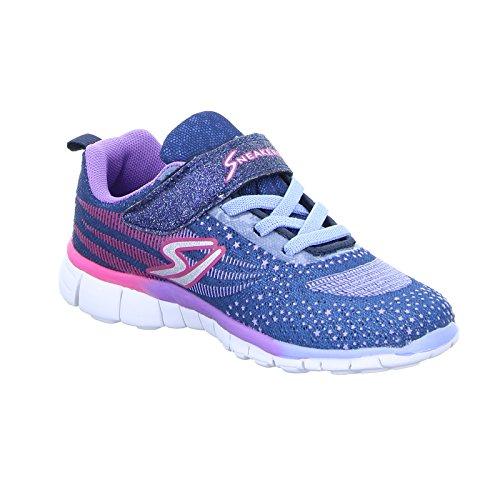 Sneakers 81.441.8.9HF20150353 Mädchen Klettverschluss/Slipper Halbschuh Violett (Lila)