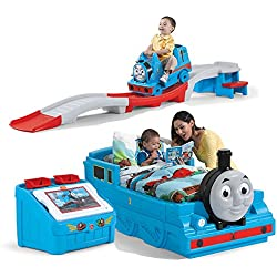 Step2 Thomas The Tank Engine Bedroom Set For Kids, Includes Toy Box, Toddler Bed, Roller Coaster