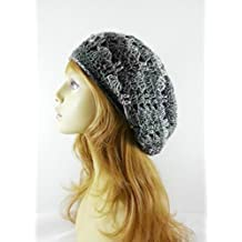 Gray Slouchy Beanie Hat for Women Spring Lightweight Handmade USA