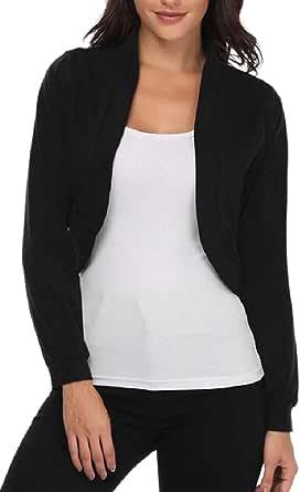 zhaoabao-AU Women Long Sleeve Bolero Shrug Knit Cropped Sweater Shrug Bolero