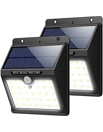 Luz Solar Jardín, 2 Pcs Trswyop 33 LED Luces Solares con Sensor Movimiento Lámpara Solar