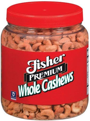 Fisher Cashews Roasted, No Salt, 35-Pound Package