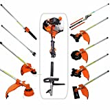 CHIKURA 52CC 2-strokes 9 in 1 Multi brush cutter grass trimmer lawn mower string trimmer saws