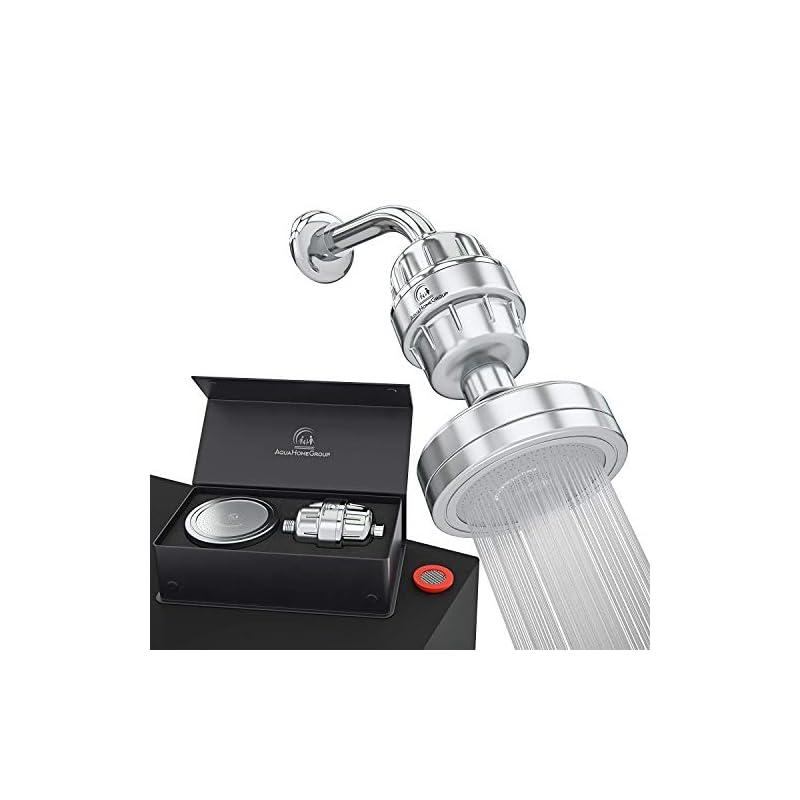 AquaHomeGroup Luxury Filtered Shower Head Set 15 Stage Shower Filter