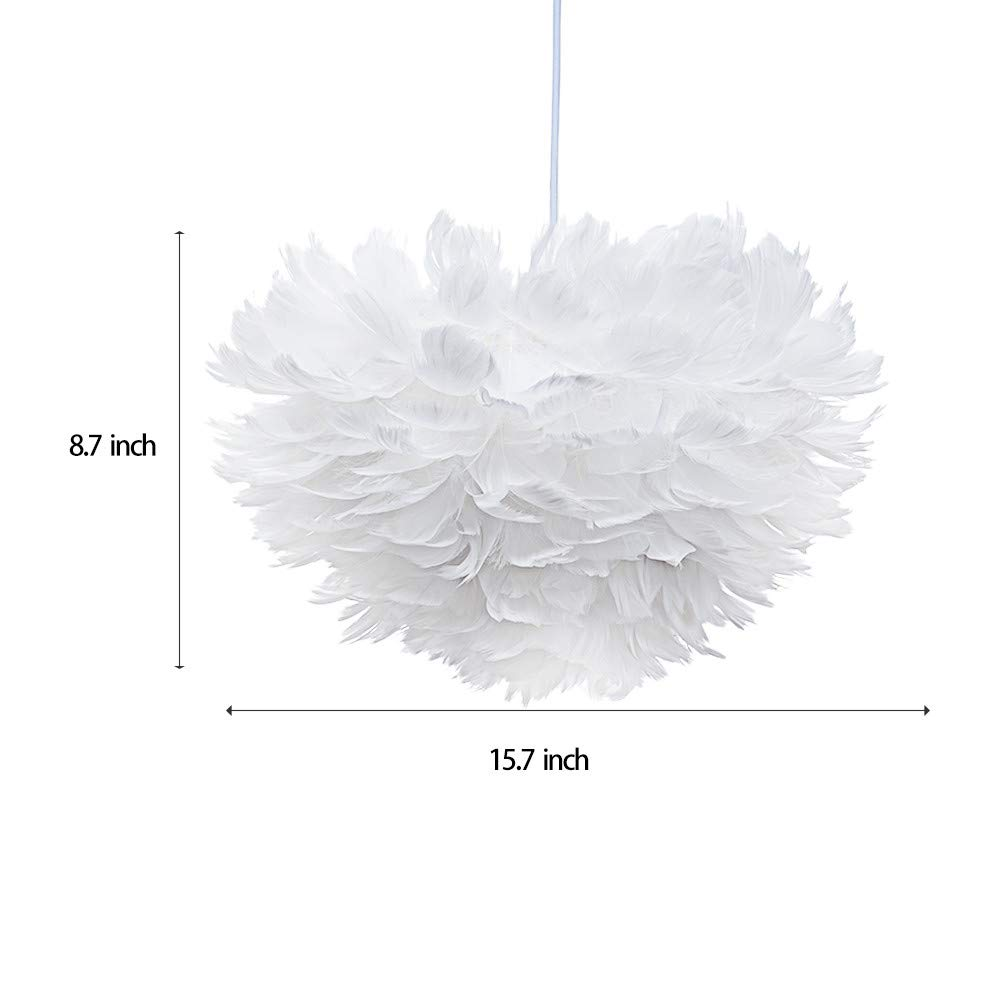 Sonmer Modern Pendant Light Feather Shade Chandelier Ceiling Light by Sonmer (Image #6)