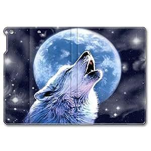 ipad mini3 leather case,The winter night wolf Custom design high-grade leather, leather feel will never fade