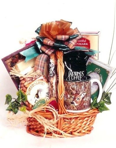 Hunting Gift Basket for Hunters - Edible and Drinkable Snacks for Before, During and After The Big Hunt - With Unique Photo Frame To Show Off The Trophy, Medium