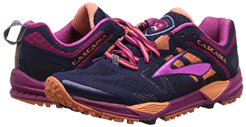 Brooks Cascadia 11 Trail Running Shoe - Womens Peacoat/Baton Rouge/Fusion Coral, 5.5 by Brooks (Image #5)