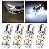 cciyu 1156 BA15S 5050 18-5050-SMD LED Light Bulb 7503 1141 1073 Backup Light,4 Pack White