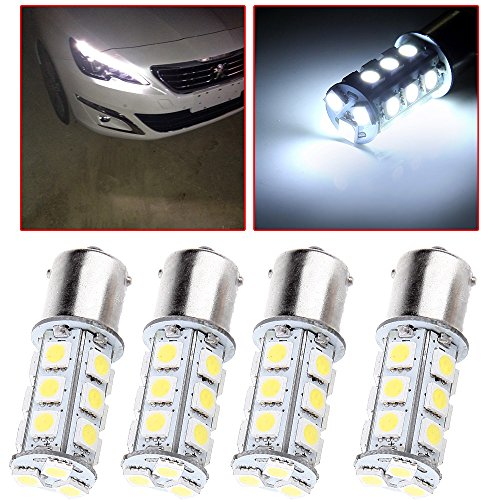 cciyu 1156 BA15S 5050 18-5050-SMD LED Light Bulb 7503 1141 1073 Backup Light,4 Pack White by CCIYU