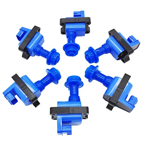 - OKAY MOTOR 6 PCS Ignition Coil Pack Skyline GTR R32 R33 GTS GTR RB20 RB25 RB26DETT Series 1 (Blue)