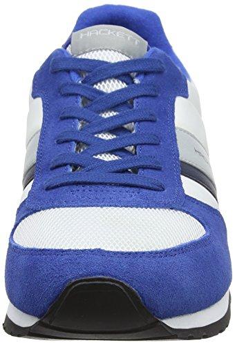 Hackett London Winfield, Zapatillas de Entrenamiento para Hombre Varios Colores (Blue/white)