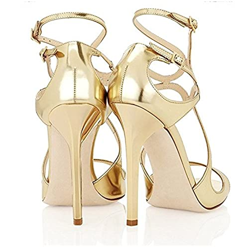 3264ff817e durable service FSJ Women Sexy Wedding Sandals for Brides Open Toe  Stilettos High Heels Dress Shoes