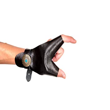 Archery Hand Guard Protector Shooting Glove Black for Left Hand
