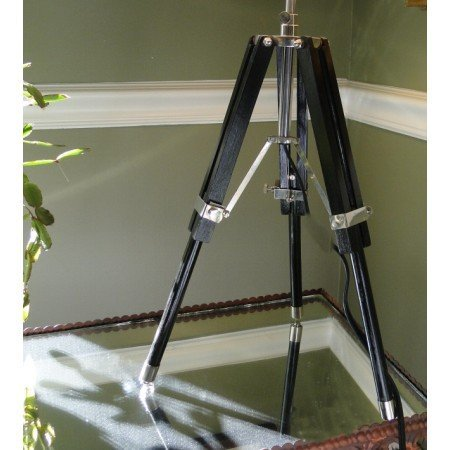 Surveyors antique restoration Table LAMP transit tripod nautical