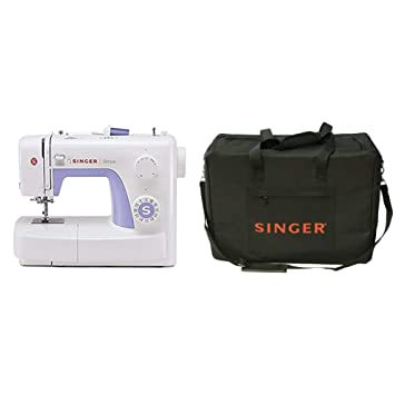 Singer Simple 3232 - Máquina de coser mecánica, 32 puntadas, 120 V, color blanco + Funda para máquina de coser, color negro: Amazon.es: Hogar