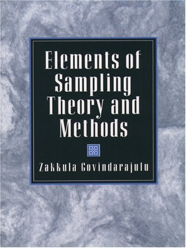 Elements of Sampling Theory and Methods