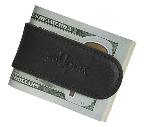 - Leather Magnetic Money Clip - Minimalist Front Pocket Wallet - Perfect Gift Idea