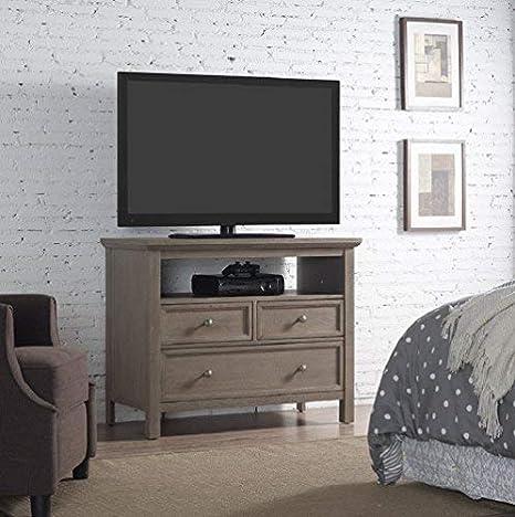 Amazon Com Runfine Bedroom 38 Inch Grey Finish Wood Tv Stand