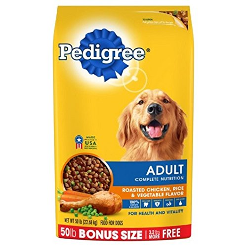 PEDIGREE Complete Nutrition Adult Dry Dog Food Bonus Bags (Chicken, 50 lbs. Pack of 2)