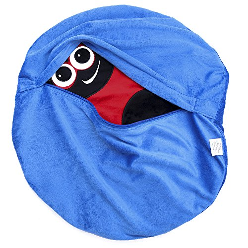 Placed on the leg 5LB Ladybird Weighted Lap Pad helps reduce Stress and Anxiety and provides Calming Deep Comfort and Cozy Feelings for Kids with Autism, ADHD, Aspergers and SPD by KINGDOM SECRET (Image #2)
