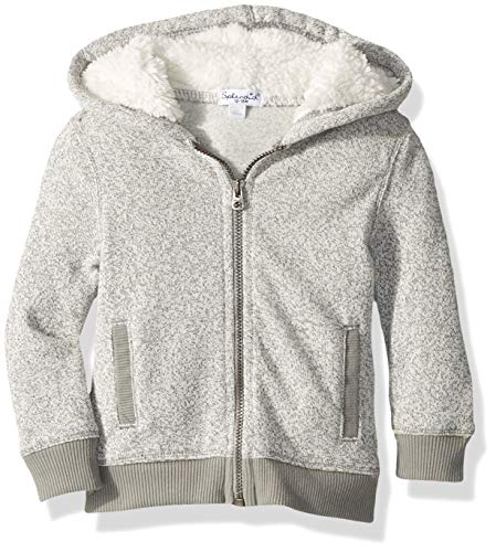 Splendid Boys' Kids and Baby Hoodie Sweatshirt, Flint Grey, 3/6 (Hooded Baby Jumper)