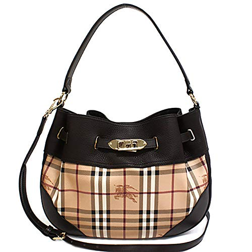 Burberry Ladies 3882406 Check Haymarket Hobo Bag Medium Willenmore q8wrqZ