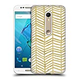 Official Cat Coquillette Herring Bone Gold Patterns 4 Hard Back Case for Motorola Moto G (3rd Gen)