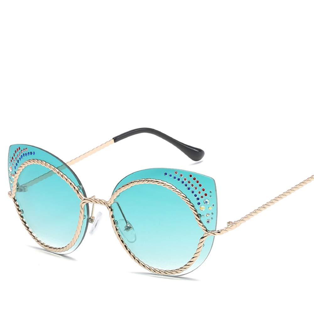 DURIAN MANGO Gafas de Sol de Moda para Mujer,Green: Amazon ...