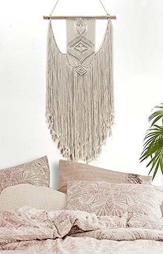 Sunm Boutique Macrame Wall Hanging Tapestry Woven Wall Tapestry Handmade Textile Tapestry Boho Wall (Woven Macrame)