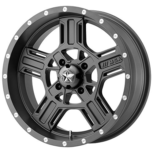 (MSA OFFROAD WHEELS M32 AXE Matte Gray Wheel Chromium (hexavalent compounds) (18 x 7. inches /4 x 132 mm, 0 mm Offset))