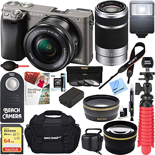 Sony Alpha a6000 Interchangeable Camera 16-50mm & 55-210mm Z