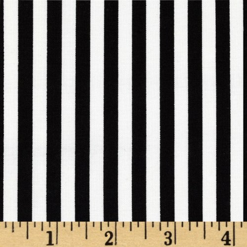 Michael Miller Clown Stripe White Fabric by The Yard