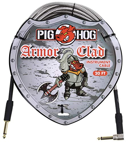 Pig Hog PHAC-20R Armor Clad Right-Angle 1/4