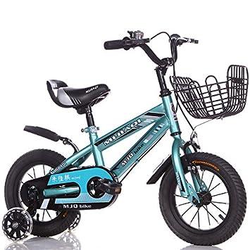 1-1 Niños Bicicleta Altura Ajustable Destello Ruedas de PU Bicicleta de montaña Doble Freno Niño Niña La Seguridad Mojadura 12 Pulgadas,Blue: Amazon.es: ...