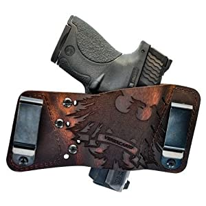 Versa Carry R1EBRN Brown Leather Ambi Thunder Underground Plus IWB/OWB Holster