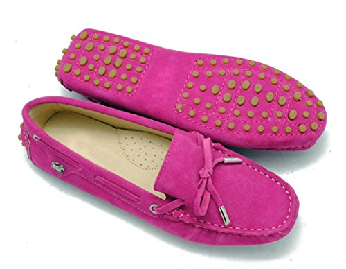 Shoes Driving Loafers STUDIO Seude Walking Womens Boat Bowknot Leather suede Rose LL Penny Casual gqBwU6q