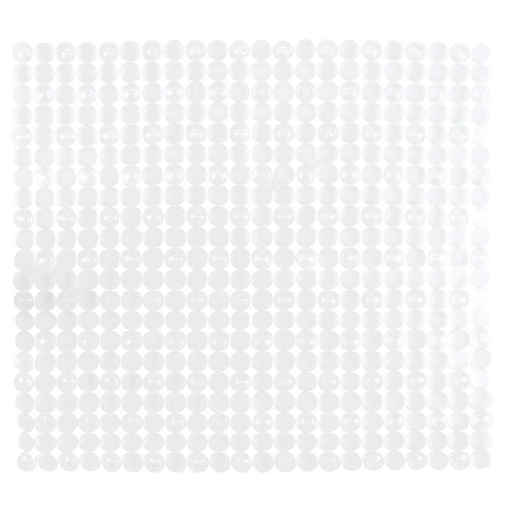 mDesign 2er-Set Badematte Duschmatte durch Saugn/äpfe nicht rutschende Matte f/ür Badezimmer sicherer Halt und schickes Design