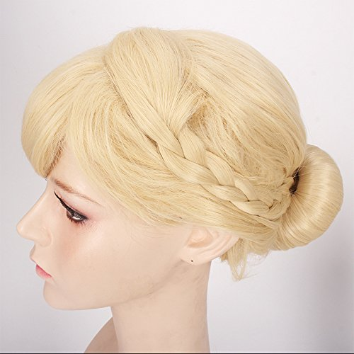 (ThinkMax Womens Cute Cosplay Wig Braids Updo Style)