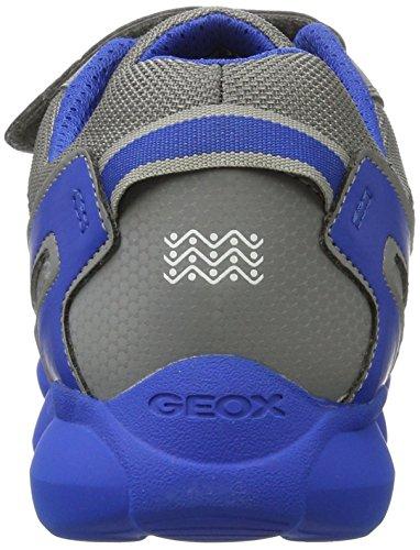 Geox J Munfrey a, Zapatillas Unisex Adulto Gris (Grey/royal)