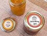 Mason Jar Lid Labels, Removable Canning