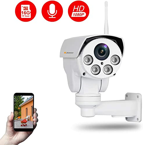 Jennov Full HD 2.0MP 1080P WiFi IP Wireless Security Cameras Outdoor Waterproof CCTV Pan Tilt Zoom PTZ Camera